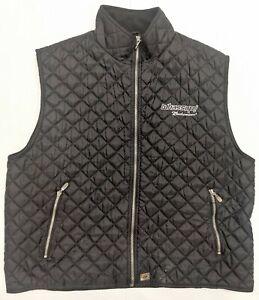 XL Men's WHASSUP! Budweiser Urban North End Black Fleece Lined Puffer Vest   B66