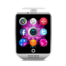 Q18 SIM TF Card Bluetooth Smart Watch  Wristwatch Camera NFC For Android White