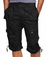 "NWT $59 Sean John Flight Cargo 14"" Shorts 30 Black Virgil Abloh Zara Levi's Polo"