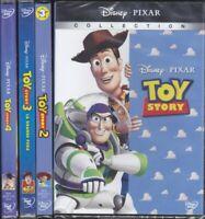 4 Dvd Disney Lotto Stock TOY STORY 1 + 2 + 3 + 4 collezione serie completa nuovo