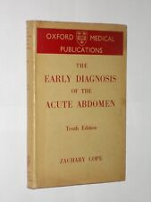 The Early Diagnosis Of The Acute Abdomen Zachary Pope. 10th Edition HB/DJ 1951.