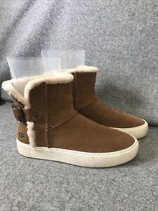 Ugg Aika Chestnut Buckle Ankle Boots Uk Size 5