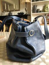 Blue Leather Adrienne Vittadini bag