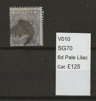 GB Queen Victoria Surface Printed SG70 Pale Lilac