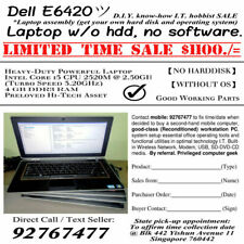 SG Sale Lots of 5 Used DELL Latitude Core i5 Laptops without Hard Disk No HDD
