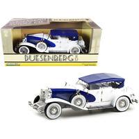 Duesenberg II SJ Blue and White 1/18 Diecast Model Car by Greenlight 13589
