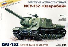 Zvezda 1/35 ISU-152 soviet tank destroyer # 3532