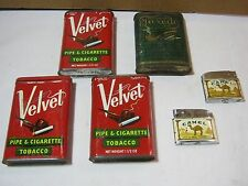 Velvet Pipe Cigarette Tobacco Tins & Tuxedo Tin & Camel Lighters Lot   T*