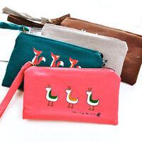 Canvas Tower Cloth Purse Wallet Card Key  Coin Bag Pouch Case Ex
