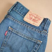 Levi 512 Jeans Bootcut Button Fly Blue Vintage Men's (PatchW31L34) W 31 L 34
