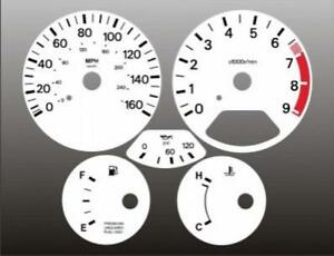 Fits 1990-1991 Nissan 300zx NON TURBO Instrument Cluster White Face Gauges Z32