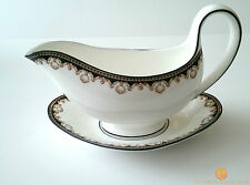 Wedgwood Medici R4588 Gravy Boat With Under Plate First Quality