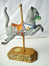 Vintage Hand Painted Porcelain Willitts Cat w Fish Carousel ~Rare