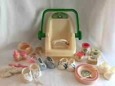 Cabbage Patch Doll Accessories 19 pieces Vintage 1983 Coleco Baby Carrier