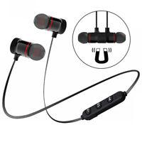 Magnetic Sport Running Headset Wireless Bluetooth Headphone Metal Bass Earphone