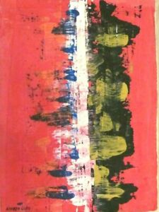 Vintage Abstract Canvas Signed Norman Lewis,  Modern  Art  20th Century