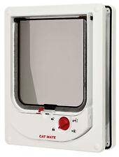 Elektromagnetische Katzenklappe mit Magnethalsband CAT MATE 254 254W, weiß