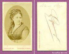 CDV MAUNOURY à PARIS : MARIE RÔZE,  ARTISTE CHANTEUSE SOPRANO, OPÉRA, 1870 -J34