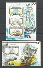 Niger 2015   Les Grands Voiliers-Tall Ships  MNH Miniature & Souvenir Sheet Set
