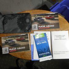 2019 Dodge Ram Trucks 1500 Owners Manual /User Guide w/Case 19