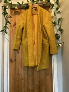 MISS SELFRIDGE ORCHA TEDDY BEAR NEXT CROMBIE COATAGIN JACKET ,COAT  SIZE 12