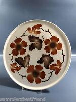 Annaburg Keramik Tortenplatte Kuchenplatte Blüten-Spritzdekor Cake Plate Teller