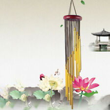 Wooden Metal Tube Fengshui Wind Chimes Bell Home Hanging Balcony Decor Surprise