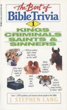 Kings, Criminals, Saints, & Sinners (The Best of Bible Trivia) Lang, J. Stephen