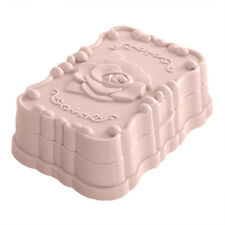 Modern Plastic Rose Soap Dish Box Case Holder Container for Home Bathroom C71