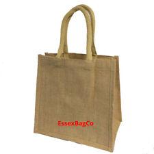 10x Medium Jute Hessian Bags, Shopping | Crafting | Gift | Wedding Bags