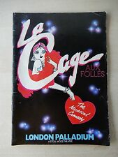 July 12th, 1986 - Lodon Palladium Theatre Playbill - La Cage Aux Folles - Hearn