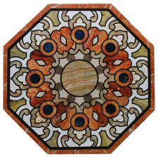 """24""""x24""""  Marble Table Top Inlay Handicraft Work Home And Garden"""
