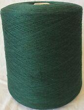 Folco Knitting Machine Yarn 2/28 2.2 Kilos 50% Wool Bottle Green Blend IND26.01