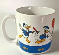 Vtg Disney Coffee Mug Cup Donald Duck Applause Through the Years Timeline 1990
