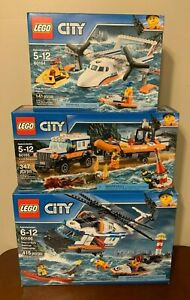 LEGO City Heavy-duty Rescue Helicopter 60166 W/ 60164 & 60165 Lot of 3, New