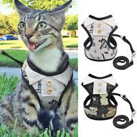 Cat Walking Harness and Lead Escape Proof Adjustable Pet Puppy Dog Vest Clothes