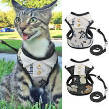 Cat Walking Harness and Lead Escape Proof Adjustable Pet Puppy Dog Vest Clothes