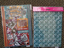 BUZZCRAFT MUSICAL LIFE A4 6 DIE CUT TOPPERS/BORDERS +A4 PATTERNED BACKING  CARD