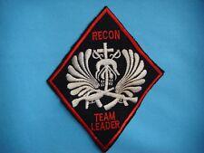 VIETNAM WAR PATCH, US 5th SF GROUP MACV SOG ILLINOIS RT LEADER