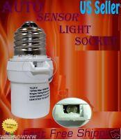 New White Dusk To Dawn Photocell Light Control Auto Sensor Light socket