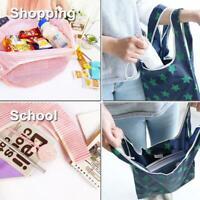 Mode Druck Einkaufstasche Tote Folding Falttasche bequem große Kapazität