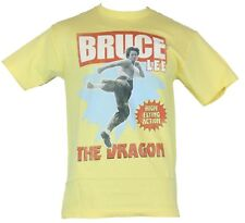 """Bruce Lee Mens T-Shirt - """"The Dragon"""" High Flying Action Images"""