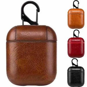 PU Leather Apple Airpod Case Protective Cover Anti Lost Skin Case Airpods