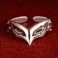 P5 Persona 5 the Golden Ren Amamiya JOKER Mask Ring 925 Silver Adjustable Ring