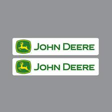 SKU1101 deux (2) x john deere tracteur stickers 40x200mm