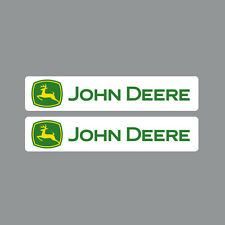 SKU1101 Two (2) x John Deere Tractor Stickers 40x200mm