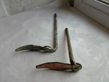 French  2 of  shutter stoppers  authentic hardware  iron - galvanize  vintage