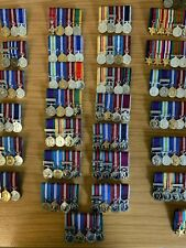 4 MINIATURE MEDALS SUPPLIED & COURTMOUNTED READY TO WEAR, BRITISH ARMY, NAVY,RAF