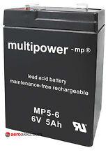 Multipower MP5-6  6V / 5Ah Blei-Vlies/Gel Akku wie 6V / 4,5Ah Oldtimerbatterie