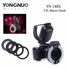 Yongnuo YN-14EX LED Flash Light E-TTL LITE with Macro Rings Adater for Canon